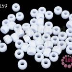 ลูกปัดพลาสติก กลม สีขาว 7มิล(1ขีด/926ชิ้น)