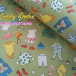 ผ้าฝ้ายอเมริกาลาย ของใช้เด็กทารก น่ารักน่าชังดีค่ะ สีเขียว ของ goo goo gear The Alexander Henry Fabrics