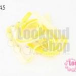 เชือกผ้า ริบบิ้นกำมะยี่ สีเหลือง (1เส้น/1หลา)