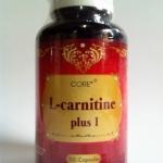 CORE L-CARNITINE PLUS 1 แอลคาร์นิทีน พลัส วัน 50 เม็ด สูตรใหม่เสริมเบต้ากลูแคน