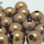 ลูกปัดมุก พลาสติก สีน้ำตาล 8มิล 1 ขีด (310ชิ้น)