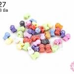 ลูกปัดพลาสติก คละสี รูปลิงน้อย 6X8มิล(1ขีด/490เม็ด)