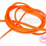 หนังแบนชามุด สีส้ม 3มิลX90ซม.(1เส้น)