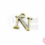 จี้ทองเหลือง ตัวอักษร N 11X13 มิล(1ชิ้น)