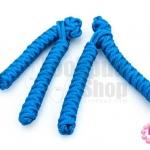 กระดุมจีน ตัวหนอน สีน้ำเงิน (4ชิ้น/2คู่)