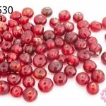 ลูกปัดแก้ว ทรงกลม สีแดง (ใส) 5มิล(1ขีด/560ชิ้น)