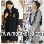 k0109 ชุดคลุมท้องน่ารัก แนวเกาหลี เนื้อผ้าดี ใส่แล้วไม่ร้อน สวมใส่สบาย เนื้อผ้าดี