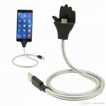 สายชาร์ตแบบตั้ง Flexible USB cable charger แข็งแรงทนทาน ไม่ขาดง่าย เพราะสายหุ้มเหล็กไว้