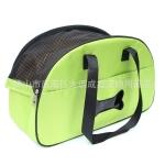 กระเป๋าสะพายน้องหมาลายกระดูกสีเขียวใบตองอ่อนไซด์ M
