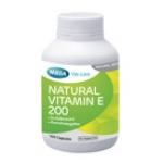 Mega We Care Natural Vitamin E 200 60 เม็ด ป้องกันริ้วรอย ให้ความชุ่นชื่น ชะลอการเสื่อมของเซลล์ ช่วยบำรุงผิวให้เนียนนุ่มชุ่มชื่น ลดริ้วรอยก่อนวัย
