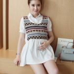 K92004 เสื้อคลุมท้องแฟชั่นเกาหลี โทนสีขาว ผ้านิ่มใส่สบาย ใส่แล้วรับรองน่ารักค่ะ
