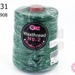 เชือกเทียน ตราLookpudshop(ม้วนใหญ่) สีเขียวเข้ม เบอร์ 2 #908 (1ม้วน)