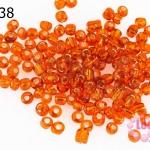 ลูกปัดจีน กลม สีส้มสอดไส้ 4มิล #L