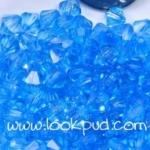 ลูกปัดคริสตัลอะคริลิค Bi-cone สีน้ำเงินอ่อน 4 มิล