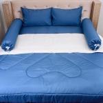 """ชุดเครื่องนอนขนเป็ดเทียม ตัดเย็บด้วยผ้า Supper soft นอนอุ่น นุ่มสบาย กุ้นขอบเชือกสวยงาม รัดมุม 12"""" สีสด สีไม่ตก ราคาถูกสุดๆ"""