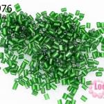 ลูกปัดจีน ปล้องสั้น สีเขียว 2X2มิล