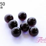 ลูกปัดแก้วมูราโน่ ไม่มีรู ทรงกลม สีม่วงเข้มใส 10 มิล(1ชิ้น)