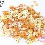 เลื่อมกลม สีส้มด้าน 5มิล (5กรัม)