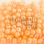 ลูกปัดมุก พลาสติก สีส้มพีชอ่อน 5มิล (1ขีด/1,778ชิ้น)