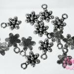 จี้โรเดียม ดอกไม้ 9x8 มิล