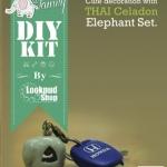 ชุดของแต่งบ้าน พวงกุญแจช้างเซรามิค DIY Set