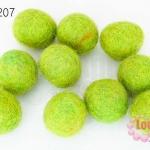 ลูกบอล Feit 20มิล #2 สีเขียวอ่อน (5ลูก)