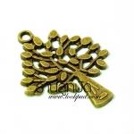 จี้ทองเหลืองต้นไม้ ขนาด 23 มิล ยาว 29 มิล ราคา 15 บาท
