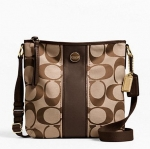 กระเป๋า COACH SIGNATURE STRIPE DUFFLE  F21905