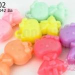 อะคริลิคสีพาสเทล รูปคิตตี้ 24X42มิล (14ชิ้น)