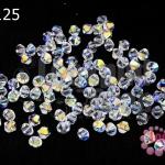 คริสตัลสวารอฟสกี้ (SWAROVSKI) สีขาวใสเหลือบรุ้ง(001AB) 4มิล(100เม็ด)