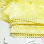 พู่ไหมเทียม เส้นยาว สีเหลืองอ่อน กว้าง 25 ซม.(1หลา/90ซม)