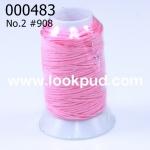 เชือกเทียน ตรากีตาร์(ม้วนเล็ก) สีชมพู908 (1ม้วน)