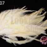 ขนนก สีขาวครีม 20 ชิ้น