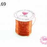 เอ็นยืด สีส้มเข้ม ม้วนเล็ก (1ม้วน/10หลา)