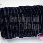 เชือกผ้า ริบบิ้นกำมะยี่ สีดำ (1ม้วน/50หลา)