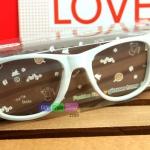 แว่นตาแฟชั่นสไตล์เกาหลี : สีขาว PA0149