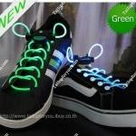เชือกผูกรองเท้าไฟกระพริบ LED สีเขียว รหัส LD003