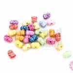 ลูกปัดพลาสติก คละสี รูปมินเนี่ยน 7X10มิล(1ขีด)
