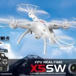 SYMA X5SW โดรนติดกล้อง Wi-Fi บินนิ่ง สู้ลม ส่งภาพเรียวไทม์ ผ่านมือถือ
