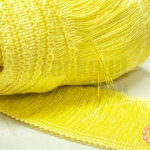 พู่ไหมเทียม เส้นยาว สีเหลืองอ่อน กว้าง 8 ซม.(1หลา/90ซม)