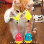 ของเล่นแมว-ไข่ล้มลุกติดขนนก TUMBIER cat toys