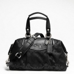 กระเป๋า COACH รุ่น ASHLEY SIGNATURE SATCHEL  F19242 : BLACK