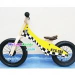 รถจักรยานเด็กเล่นทรงตัว 2 ล้อ รุ่น Speedster-yellowcab สีเหลือง : แบบไม้ รหัส CV005