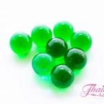 ลูกปัดแก้วมูราโน่ ไม่มีรู ทรงกลม สีเขียวใส 10 มิล(1ชิ้น)