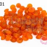 ลูกปัดแก้ว ทรงจานบิน สีส้ม 6มิล (1ขีด/632ชิ้น)