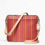 กระเป๋า COACH  Legacy Weekend Ticking Stripe Medium Swingpack F49249