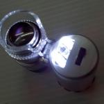 แบบ2-มหัศจรรย์กล้องไมโครสโคปจิ๋ว ขนาดพกพา ไฟฉาย และไฟตรวจแบงค์ปลอม - Portable Microscope 60x + Flashlight + UV BankNote check