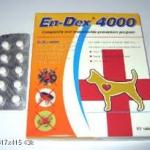 En-Dex 4000 ( ไอเวอร์เม็คติน ชนิดเม็ด ) บรรจุแผงละ 10 เม็ด