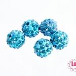 บอลเพชร เกรดดี 10 มิล สีฟ้าน้ำทะเล
