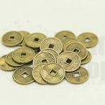 เหรียญจีน สีทองเหลือง 10มิล(10ชิ้น)
